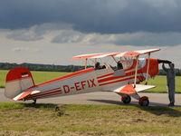 D-EFIX @ LOLW - Bücker Jungmann engine start - by P. Radosta - www.austrianwings.info