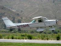 N10946 @ SZP - 1973 Cessna 150L, Continental O-200 100 Hp, takeoff climb Rwy 22 - by Doug Robertson