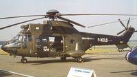 F-WZLB @ EGLF - Aerospatiale AS.332B Super Puma at Farnborough International 1982