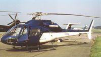 F-GBON @ EGLF - Aerospatiale AS.355 F1 Ecureuil 2 at Farnborough International 1982