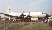 160761 @ EGLF - Lockheed P-3C Orion of the US Navy at Farnborough International 1982