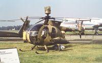 N8337F @ EGLF - Hughes 500 MD Defender II/ MMS TOW at Farnborough International 1982