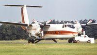 C-GCTC @ EGLF - DeHavilland Canada DHC-5D Buffalo at Farnborough International 1982 - by Ingo Warnecke
