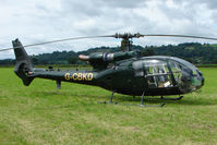 G-CBKD @ EGCW - Gazelle on display on 2009 Welshpool Air Day