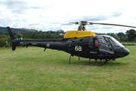 ZJ268 @ EGCW - AS350BB on display on 2009 Welshpool Air Day