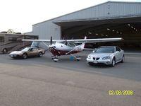 N198JM @ 7G0 - outside the hangar - by Steve O NY