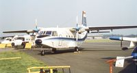 EC-DHO @ EGLF - CASA C-212-100 Aviocar at Farnborough International 1982
