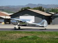 N1748D @ SZP - 1951 Cessna 170A, Continental C145 145 Hp, landing roll Rwy 22 - by Doug Robertson