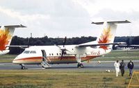 C-GGPJ @ EGLF - DeHavilland Canada DHC-8-102 (Dash 8-102) at Farnborough International 1984 - by Ingo Warnecke