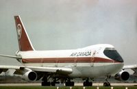 CF-TOC @ LHR - Boeing 747-133 of Air Canada preparing to depart London Heathrow in the Summer if 1976. - by Peter Nicholson