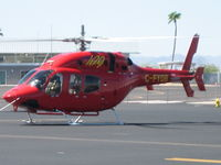 C-FYOB @ KHII - Bell 429 at KHII doing high temperature testing - by Ehud Gavron