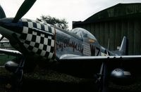 44-73979 @ EGSU - P-51D Mustang as 44-72258 Big Beautiful Doll at the Imperial War Museum, Duxford in the Summer of 1976. - by Peter Nicholson