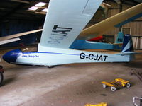 G-CJAT @ X4PK - Schleicher K 8B. Wolds Gliding Club at Pocklington Airfield - by Chris Hall