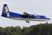 OO-VLF @ ELLX - VLM Fokker50 short final RW24