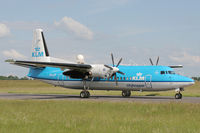 PH-LXP @ ELLX - KLM Fokker50 taxing to the holding point RW06