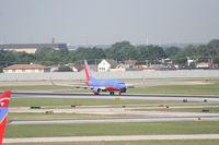 N481WN @ KMDW - Southwest 737-7H4, N481WN rolling RWY 4R KMDW - by Mark Kalfas