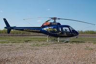 C-FETD @ CYOJ - Gemini Helicopters AS350