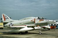 154183 @ HRL - This VC-7 Redtails Skyhawk was in the static display at the 1978 Confederate Air Force Airshow at Harlingen. - by Peter Nicholson