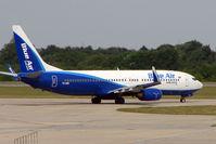 YR-BIB @ EGSS - Blue Air Romania B737 at Stansted