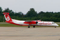 D-ABQG @ EGSS - Air Berlin Dash 8 at Stansted