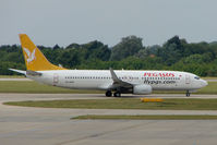 TC-AAP @ EGSS - Pegasus B737 at Stansted - by Terry Fletcher