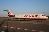 D-AGPD @ EDDR - Air Berlin Fokker100 - by FBE