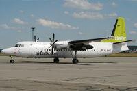 YL-BAZ @ EDDR - Air Baltic Fokker50 at EDDR