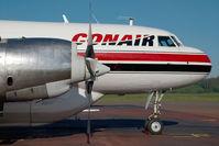C-FKFB @ CYXS - Conair Convair 580