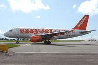 G-EZEW @ EGGD - Easyjet A319 taxying out at Bristol
