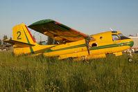 C-GWHK @ CYXX - Government of Sasketchewan Conair Firecat
