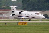 N24SR @ KDPA - Sears Roebuck Learjet 60, arriving 20R KDPA after a trip from KAVL - by Mark Kalfas