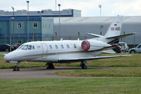 S5-BBD @ EGNX - Slovenian Cessna Excel in EMA for the British Grand Prix Motorcycle Race