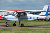 G-TECO @ EGBG - Tecnam Echo at Leicester on 2009 Homebuild Fly-In day