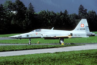 J-3098 @ LSMF - Being the last F-5E delivered to the Swiss AF J-3098 has Peace Alps II nose art applied.