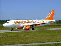 G-EZAW @ EGPH - Easyjet A319 Taxiing to runway 06 at EDI - by Mike stanners