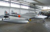 J-1635 - DeHavilland D.H.112 Venom Mk1R FB50 formerly of the Flugwaffe (Swiss AF), now at the Museum für Luftfahrt und Technik at Wernigerode