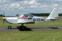 G-ZZAC @ EGBG - EV-97 Eurostar at Leicester on 2009 Homebuild Fly-In day