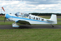 G-AWFW @ EGBG - Jodel D117 at Leicester on 2009 Homebuild Fly-In day