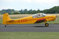 G-AXGV @ EGBG - Druine D.62B Condor at Leicester on 2009 Homebuild Fly-In day