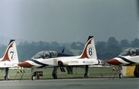 68-8156 @ RDG - T-38A Talon, number 6 of the Thunderbirds aerial demonstration team, at the 1977 Reading Airshow. - by Peter Nicholson