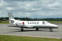 D-CCCF @ ESMX - German Citation II visiting Växjö (Småland Airport) in Sweden. - by Henk van Capelle