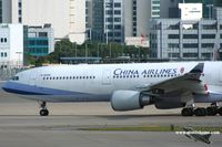 B-18306 @ VHHH - China Airlines - by Michel Teiten ( www.mablehome.com )