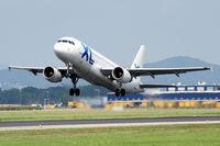 C-GTDP @ LOWL - XL Airways A320-214 take of on RWY27 - by Janos Palvoelgyi