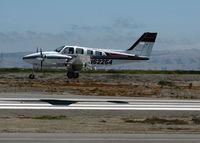 N62254 @ SQL - Beech 58P Baron arriving from KF62 (Hayfork, CA) @ San Carlos Muni, CA - by Steve Nation