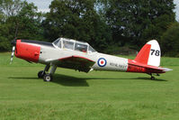 G-BVTX - DHC-1 Chipmunk with WP809 Navy markings - at the 2009 Stoke Golding Stakeout event