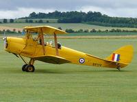G-ANRM @ EGSU - De Havilland DH82A Tiger Moth G-ANRM Classic Wings painted as Royal Air Force DF112 - by Alex Smit