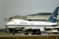 YK-AHB @ LHR - In the late Summer of 1976 this Boeing 747SP of Syrian Arab Airlines seen at London Heathrow had only been in service for a few months. - by Peter Nicholson