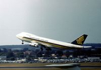 9V-SQD @ LHR - Boeing 747-212B of Singapore Airlines departing London Heathrow in the Summer of 1976. - by Peter Nicholson