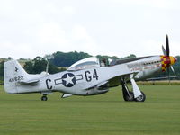 F-AZSB @ EGSU - North American P-51D Mustang F-AZSB Societe de development & promotion d'aviation painted as US Air Force 44-11622/G4-C Nooky Booky IV - by Alex Smit