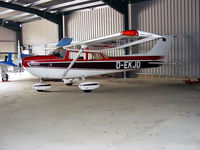 D-EKJD @ EGSN - Cessna 172S in the hangar at Bourn Airfield - by Chris Hall